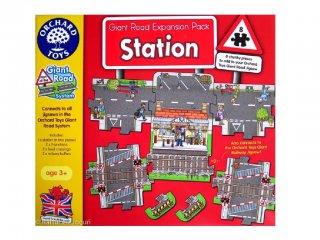 Játszószőnyeg puzzle, Vonatállomás (Orchard, 8 db-os óriás puzzle, 2-6 év)