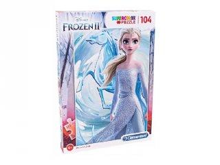 Jégvarázs II Elza hercegnő Supercolor kirakó, 104 db-os puzzle (CLEM, 6-8 év)