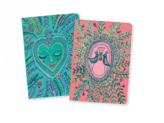 Jegyzetfüzet Love Aurelia A/6, 2 db-os Djeco Lovely paper szett - 3593
