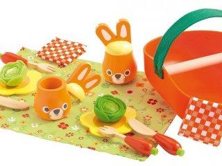 Jojo piknik készlete (Djeco, 6629; fa szerepjáték, 4-7 év)