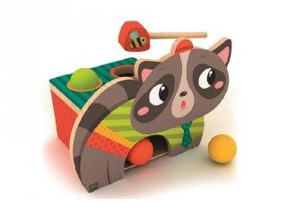 Kalapálós játék, fa bébijáték (1-3 év)