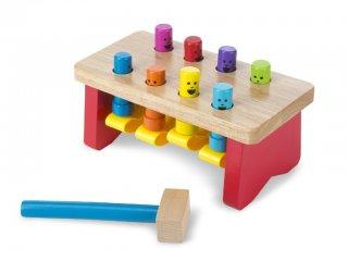 Kalapálós játék, Fix rudakkal (Melissa&Doug, 4490, kétoldalas bébi fajáték, 1-3 év)