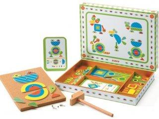 Kalapálós képalkotó játék, Állatok (Djeco, 6644, kreatív építőjáték, 3-7 év)