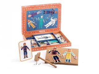 Kalapálós képalkotó játék, Foglalkozások (Djeco, 6645, kreatív építőjáték, 3-7 év)