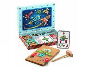 Kalapálós képalkotó játék, Űrhajók (Djeco, 6642, kreatív építőjáték, 4-7 év)