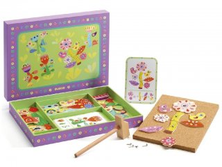 Kalapálós képalkotó játék, Virágoskert (Djeco, 6643, kreatív építőjáték, 3-7 év)