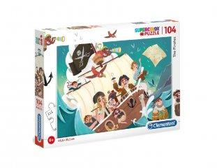 Kalózok puzzle, 104 db-os kirakó (CLEM, 6-8 év)