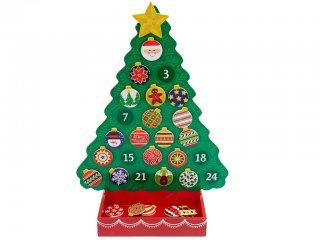 Karácsonyfa alakú Adventi naptár (Melissa Doug, mágneses karácsonyi játék, 3-9 év)