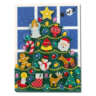Karácsonyfa formaberakó (Melissa&Doug, 13 db-os fajáték, 2-6 év)