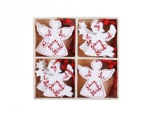 Karácsonyfadísz, Fehér angyal (FP, 12 db-os karácsonyi dekoráció)