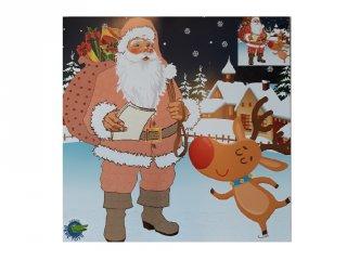 Karácsonyi mozaikkép készítő, Mikulás (kreatív játék, 3-8 év)