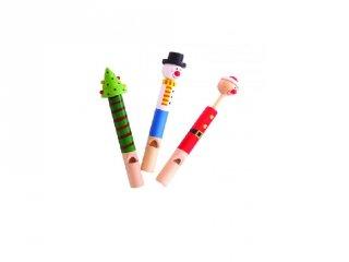 Karácsonyi síp (Bigjigs, fa hangszer, 3-10 év)