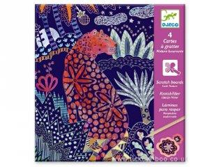 Karckép készítő, Csillámos dzsungel állatok (Djeco, 9728, kreatív készlet, 7-13 év)