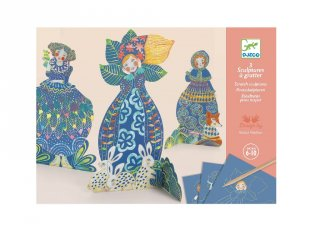 Karckép készítő Csinos ruhákban, Djeco kreatív készlet XL méretű képekkel - 9707 (6-10 év)