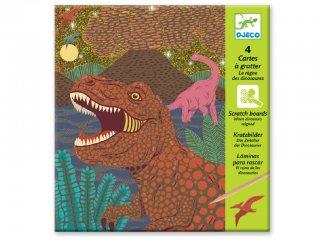 Karckép készítő, Dinoszauruszok (Djeco, 9726, kreatív készlet, 6-10 év)