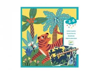 Karckép készítő Nagytestű állatok, Djeco kreatív szett - 9095 (3-6 év)