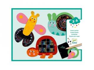 Karckép készítő Vicces állatok, Djeco kreatív szett - 9094 (3-6 év)