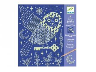 Karckép technika Éjszaka világa, Djeco kreatív készlet - 9735 (6-11 év)