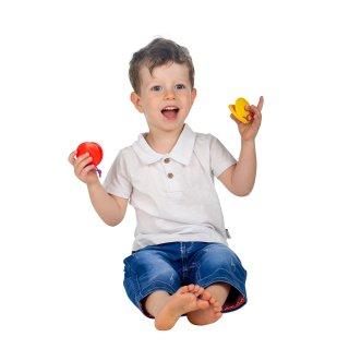 Kasztanyetta, Halilit baba hangszer többféle színben (1-3 év)