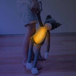 Katie cica zenélő plüss és éjjeli fény, babaszoba kiegészítő (ZA)