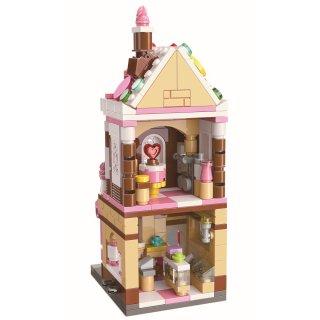 Keepley Édesség Ház, Lego kompatibilis építőjáték készlet (QMAN, CO101, 6-12 év)