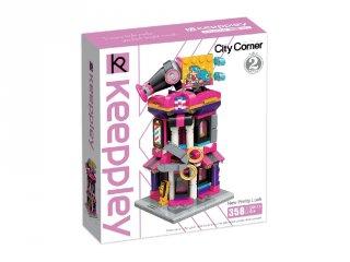 Keepley Fodrász Ház, Lego kompatibilis építőjáték készlet (QMAN, CO111, 6-12 év)