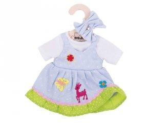 Kék szarvasos ruha 30 cm-es (Bigjigs, babajáték, babaruha, 3-8 év)