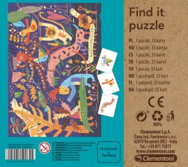 Képkereső kirakó Nyár, 60 db-os puzzle (CLEM, 4-7 év)