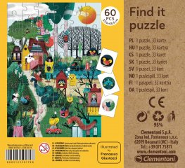 Képkereső kirakó Ősz, 60 db-os puzzle (CLEM, 4-7 év)