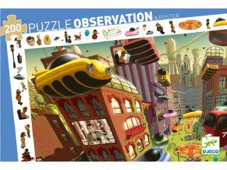 Képkereső puzzle, A jövő városa (Djeco, 7459, 200 db-os kirakó, 6-14 év)