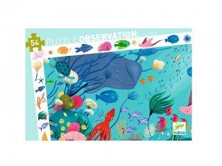 Képkereső puzzle, A tenger állatai (Djeco, 7562, 54 db-os kirakó, 4-8 év)
