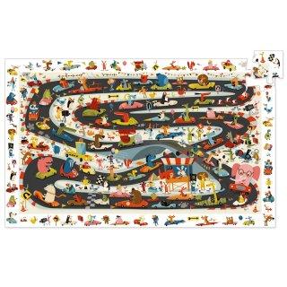 Képkereső puzzle Autós rally, Djeco 54 db-os kirakó - 7564 (4-8 év)