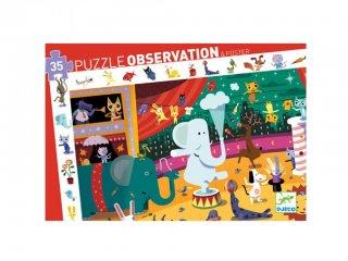 Képkereső puzzle, Cirkusz (Djeco, 7587, 35 db-os kirakó, 3-7 év)