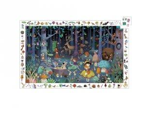 Képkereső puzzle, Elvarázsolt erdő (Djeco, 7504, 100 db-os kirakó, 5-12 év)