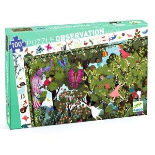 Képkereső puzzle Garden play time, Djeco 100 db-os kirakó - 7512 (5-12 év)