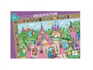 Képkereső puzzle, Hercegnők (Djeco, 7556, 54 db-os kirakó, 4-8 év)