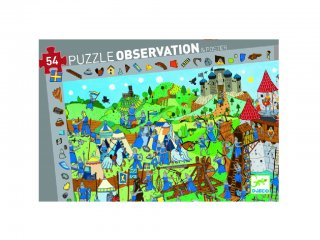 Képkereső puzzle, Lovagok (Djeco, 7559, 54 db-os kirakó, 4-8 év)