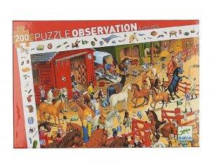 Képkereső puzzle, Lovarda (Djeco, 7454, 200 db-os kirakó, 6-14 év)