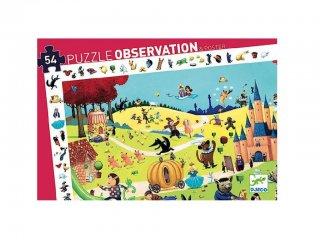 Képkereső puzzle, Meseszereplők (Djeco, 7561, 54 db-os kirakó, 4-8 év)