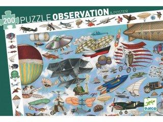 Képkereső puzzle Repülő klub, Djeco 200 db-os kirakó - 7451 (6-14 év)