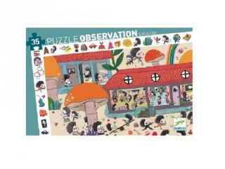 Képkereső puzzle Süniiskola, Djeco 35 db-os kirakó - 7595 (3-6 év)