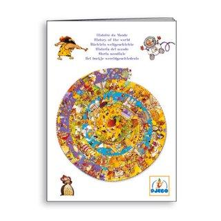 Képkereső puzzle, Történelem (Djeco, 7470, 350 db-os kör kirakó, 7-15 év)