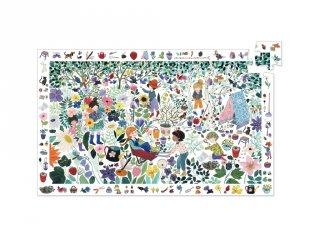 Képkereső puzzle, Virágok (Djeco, 7507, 100 db-os kirakó, 5-10 év)