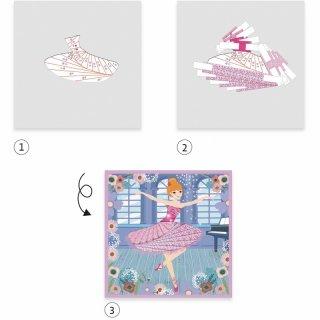 Képkészítés origami technikával Táncosok, Djeco kreatív készlet - 9444 (7-13 év)