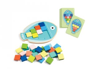 Képkirakó Mozaik színek, Djeco fa logikai játék - 1665 (3-7 év)