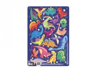 Keretes puzzle Dínók, 53 db-os kirakó (DO, 5-8 év)