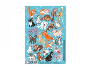 Keretes puzzle Macskák, 53 db-os kirakó (DO, 5-8 év)
