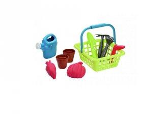Kertészkedő kosár kiegészítőkkel, homokozó játék (2-6 év)