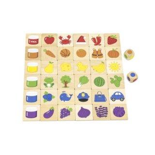 Készségfejlesztő játék színek, fa logikai játék (FK, 3-6 év)