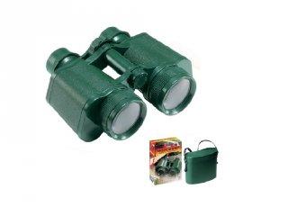 Kétcsövű zöld gyermektávcső tokkal (Navir, 1010-G, tudományos játék, 5-10 év)